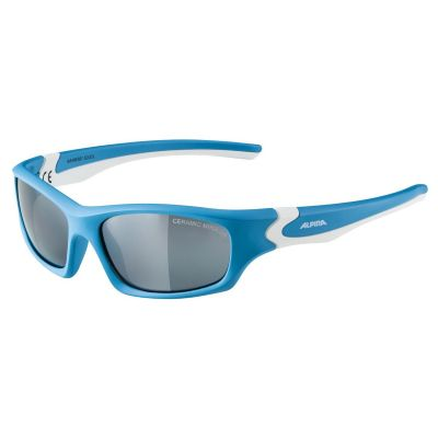 Alpina Flexxy Teen Cyan/White Mirror Black Lens