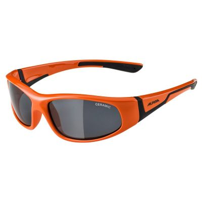 Alpina Flexxy Junior Glasses Orange/Black Black Lens
