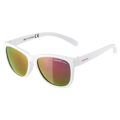 Alpina Luzy Youth Glasses White Mirror Pink Lens
