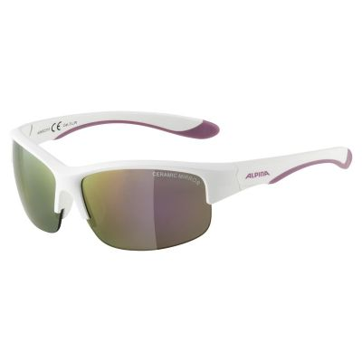 Alpina Flexxy Youth HR Glasses White/Pink Lens