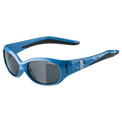 Alpina Flexxy Kid Glasses Blue Dog/Black Lens
