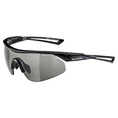 Alpina Nylos Shield VL+ Glasses Black/Black Lens