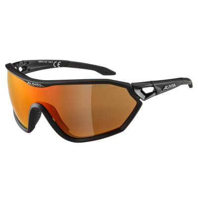 Alpina S-Way CM+ Glasses Black/Red Lens