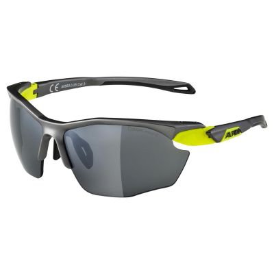 Alpina Twist 5 HR CM+ Glasses Grey-Neon Yellow/Black Lens