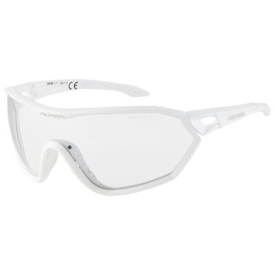 Alpina S-Way Cycling Glasses with Varioflex Lense Matte White