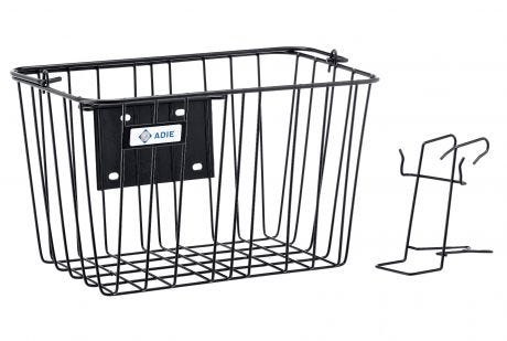 Adie Front Wire Basket With Holder Black  Basket with Bracket