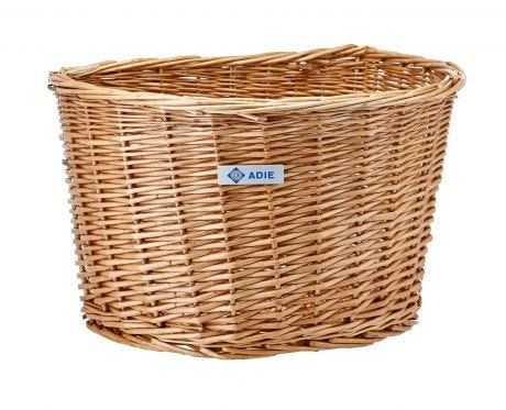 "Adie 16"" D-shape Wicker Basket"