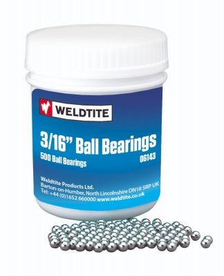 "Weldtite Bearing 3/16"" Workshop Pack (x500)"