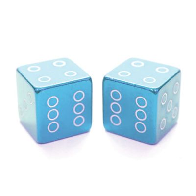 ETC Dice Valve Caps Schraeder Unit Of Sale: PAIR Blue