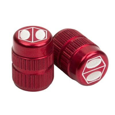 Box Cube Valve Cap Schrader Red