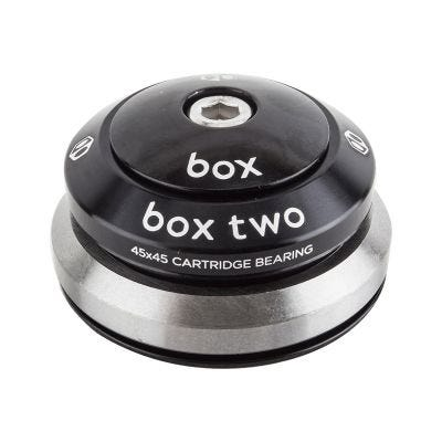 """Box Two Tapered Integrated 1 1/8"""" to 1.5"""" 45/45 Headset Black"""