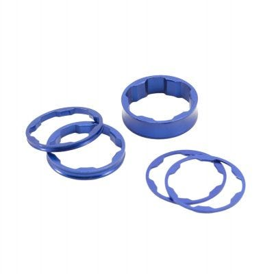 "Box Two Stem Spacer 1 1/8"" - Blue - 1 1/8"""