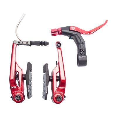 Box Three Brake Kit Red 108mm