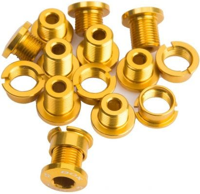 Box One Alloy Chainring Bolt Kit Gold 15pcs