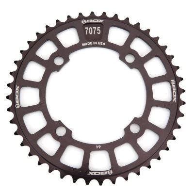 Box One 7075 Chainring 104mm 4 Bolt 44 Teeth Black