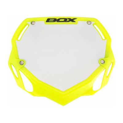 Box Phase 1 Large Number Plate Fluro Yellow