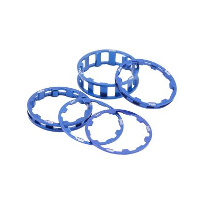 Box Zero Stem Spacer Kit Blue 1 1/8""