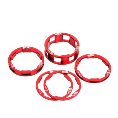 Box Zero Stem Spacer Kit Red 1 1/8""