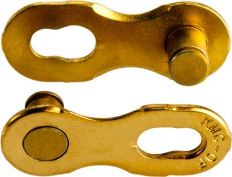 KMC 12 Speed Ti-N Gold Missing Link Non Reusable 5.2mm (x2)