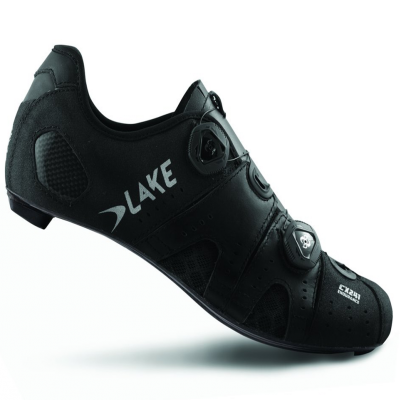 Lake CX241 CFC Carbon Road Shoes Black Wide Fit