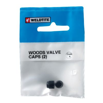 Weldtite Bike Bits Woods Valve Caps x2