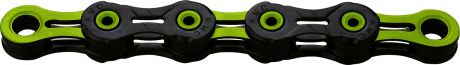 KMC X11 DLC 11 Speed Chain 118 Link Black/Green