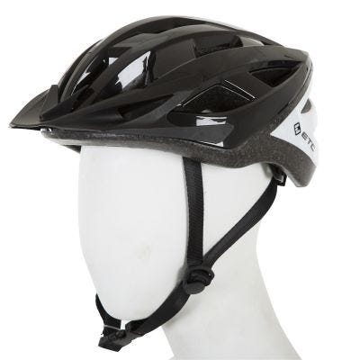 ETC L520 Adult Leisure Helmet Black/White 53cm-60cm