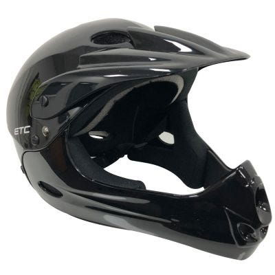 ETC Full Face BMX Helmet Black 54-58cm