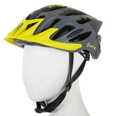 ETC M710 Adult MTB Helmet Black/Yellow 58cm-61cm