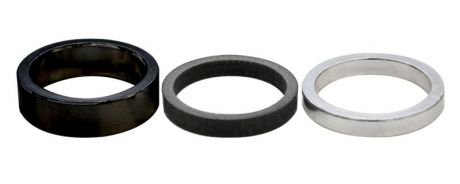 ETC Headset Spacer Alloy Workshop Pack Black 28.6mm x 5mm