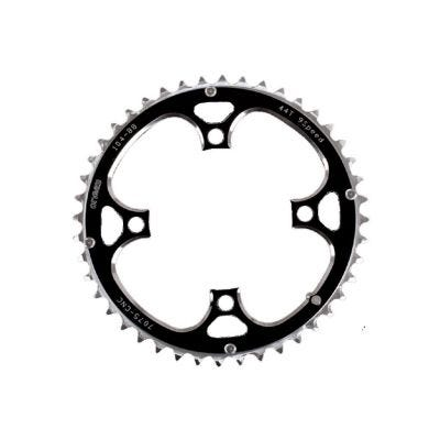 ETC Chainring Alloy CNC 104mm 4 Bolt Silver/Black