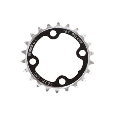 ETC Chainring Alloy 64mm 4 Bolt 22 Teeth Black