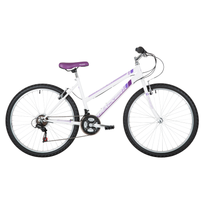 "Freespirit Tracker 18"" MTB Bike White/Purple"