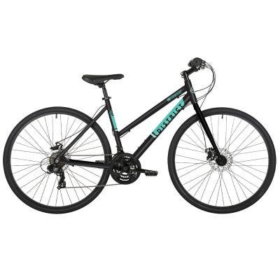 Freespirit District 700c Wheel Womens Sports Hybrid Bike Black/Teal