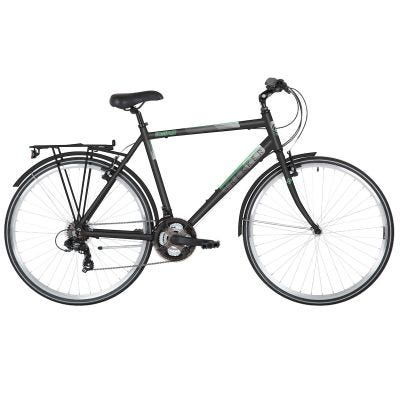 Freespirit Trekker 700c Mens Trekking Bike Black/Grey/Green