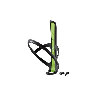 guee Qing+ Bottle Cage with Integrated Tyre Lever Black/Green