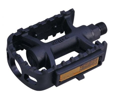 ETC Resin Junior MTB Pedals Black 1/2""