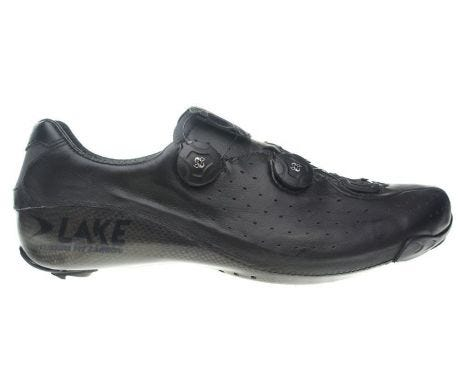 Lake CX402 CFC Carbon Road Shoe Black Wide Fit