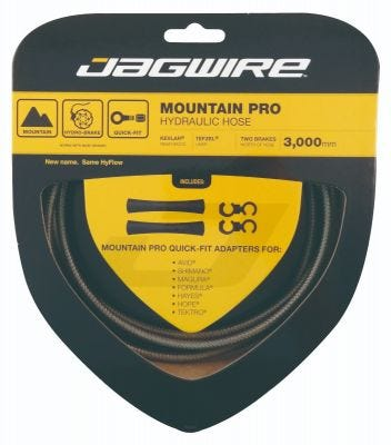 Jagwire Pro Hydraulic Hose Kit Carbon Silver 3M
