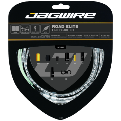 Jagwire Road Elite Link Brake Cable Kit Silver