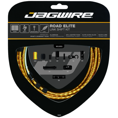 Jagwire Road Elite Link Shift Kit Gold