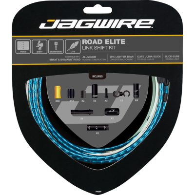 Jagwire Road Elite Link Shift Kit Blue