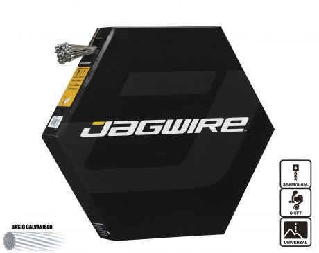 Jagwire Basics Shift Inner Cable Galvanised 2300mm SRAM/Shimano Workshop Filebox (x100)