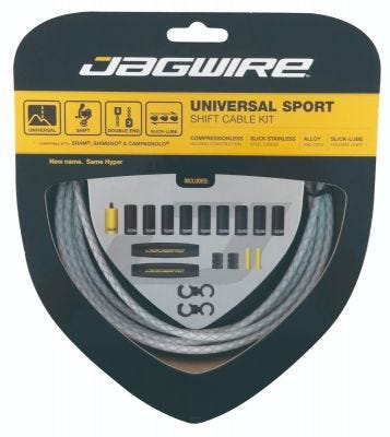 Jagwire Kit Universal Sport Gear Braided White