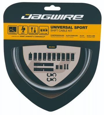 Jagwire Universal Sport Shift Cable Kit Sterling Silver