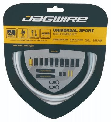 Jagwire Kit Universal Sport Gear White