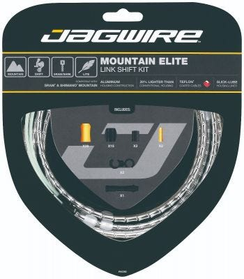 Jagwire Kit Mountain Elite Link Gear Silver
