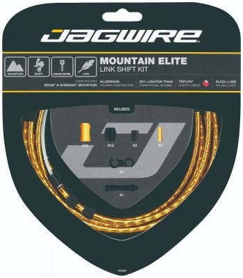 Jagwire Kit Mountain Elite Link Gear Gold