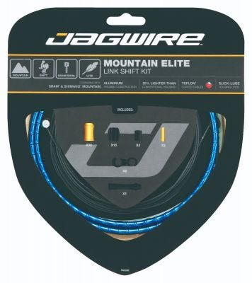 Jagwire Kit Mountain Elite Link Gear Blue