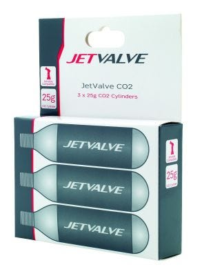 Jetvalve 25g CO2 Refill Cyclinders (x3)